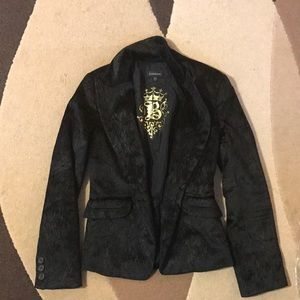🖤🖤 BEBE Fitted Blazer Jacket Sleek Texture Black